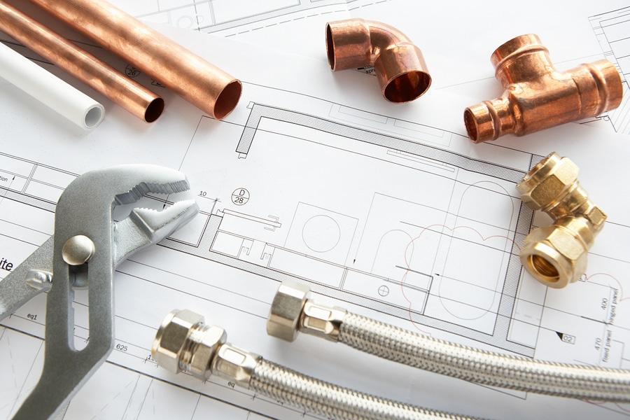 bigstock-Plumbing-tools-and-materials-25315121